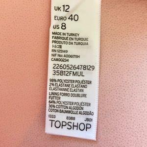 Topshop Dresses - TOPSHOP Pink & Black Stripe Party Dress NWT!